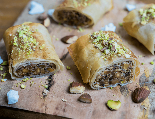 Baklava with Bettine goat cheese
