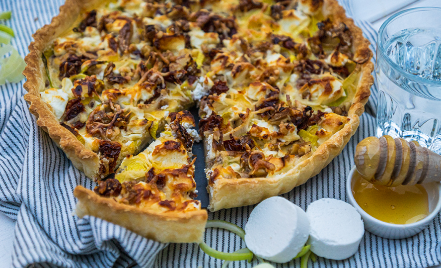 Bettine goat's cheese quiche with leek