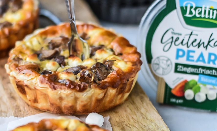 Bloemkool-champignon quiche met Bettine pearls