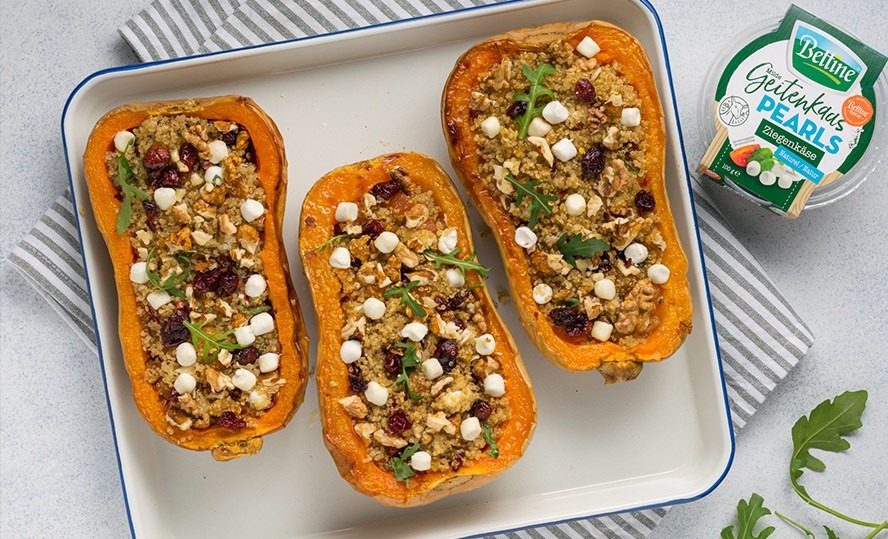 Roasted Butternut with Quinoa and Goat's Cheese
